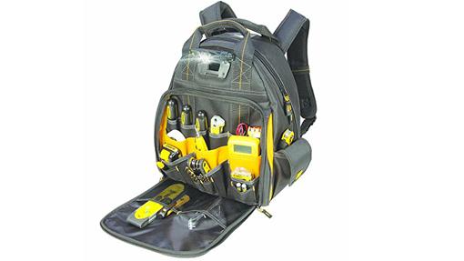 DEWALT DGL523 Lighted Tool Backpack Bag Review
